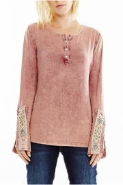 Aratta Cotton Henley Top - Front cropped