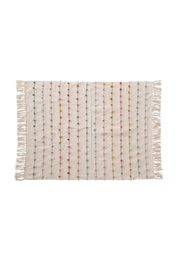 Creative Coop Cotton Knit Baby Blanket w/ Tassels - Product Mini Image