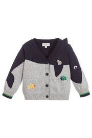 Paul Smith Junior Cotton-Knit 'Tiffen' Cardigan - Front cropped