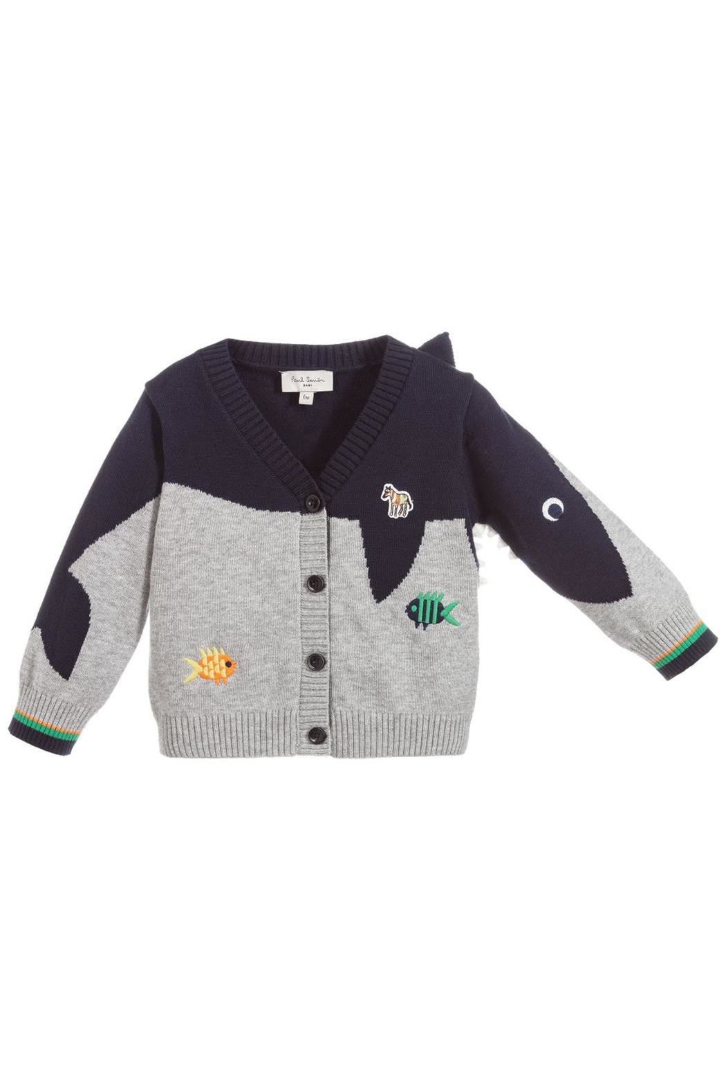 Paul Smith Junior Cotton-Knit 'Tiffen' Cardigan - Side Cropped Image