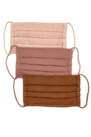 Kitsch Cotton Mask 3 Pack - Dusty Rose - Product Mini Image