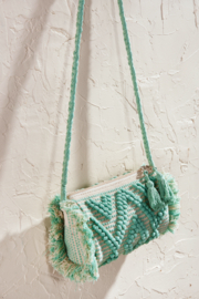 LAsociety Cotton Mint Macrame Crossbody - Product Mini Image