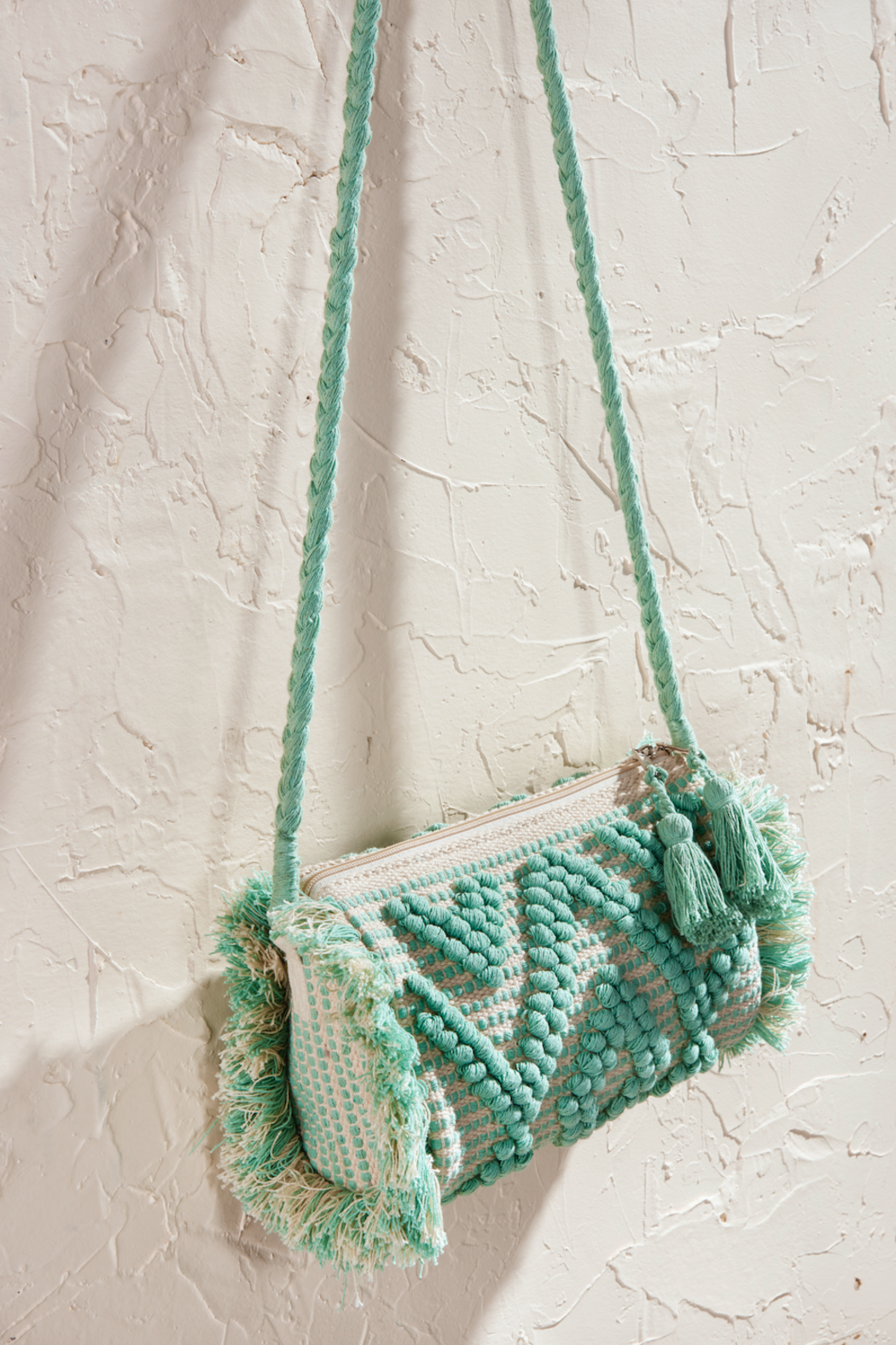 LAsociety Cotton Mint Macrame Crossbody - Main Image