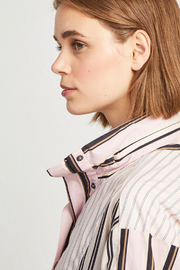 French Connection COTTON MIX STRIPE BOMBER JACKET - Side cropped