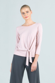 Clara Sunwoo Cotton Modal Side Tie Top - Front cropped