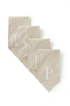 Shoptiques Product: Cotton Monogram Napkins