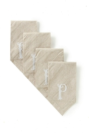 Mud Pie Cotton Monogram Napkins - Product Mini Image