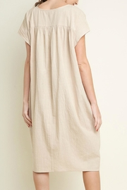 Umgee USA Cotton Pocket Dress - Back cropped