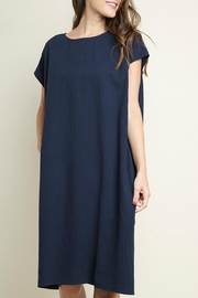 Umgee USA Cotton Pocket Dress - Front cropped