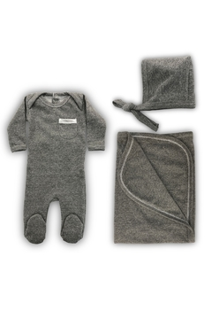 Cotton Pompom COTTON POMPOM GREY INFANT LAYETTE SET - Alternate List Image