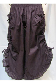 Victorian Lingerie – Underwear, Petticoat, Bloomers, Chemise Cotton Ruffled Pantaloon Pant $35.00 AT vintagedancer.com