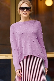 525 America Cotton Shaker Polka Dot Sweater - Product Mini Image