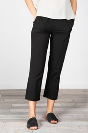 Grade and Gather Cotton Slit Pants - Front full body