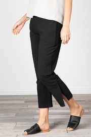 Grade and Gather Cotton Slit Pants - Side cropped