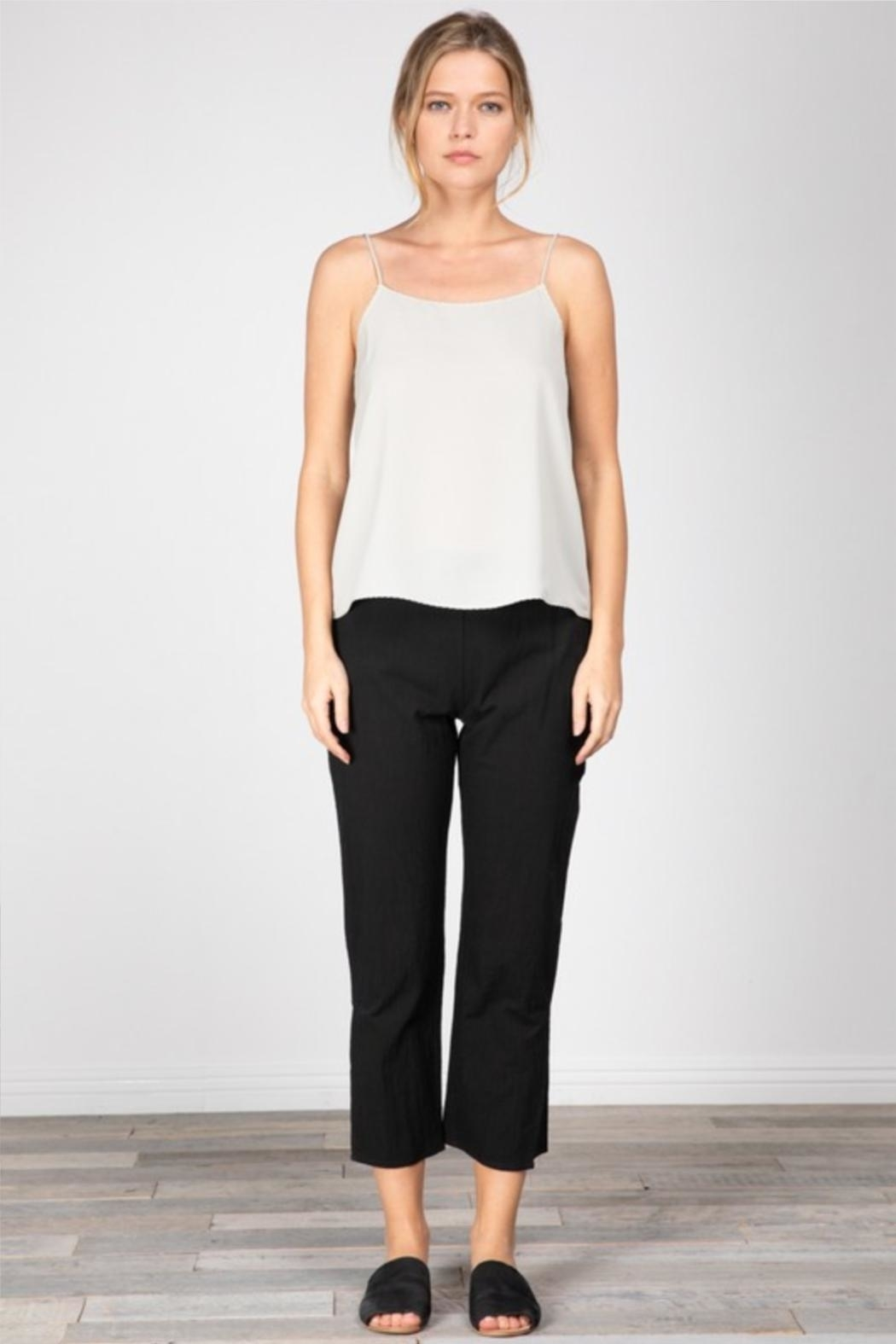 Grade and Gather Cotton Slit Pants - Front Cropped Image