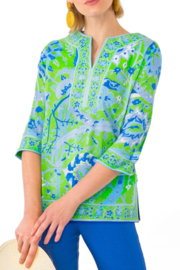 Gretchen Scott Cotton Split Neck Tunic - Product Mini Image