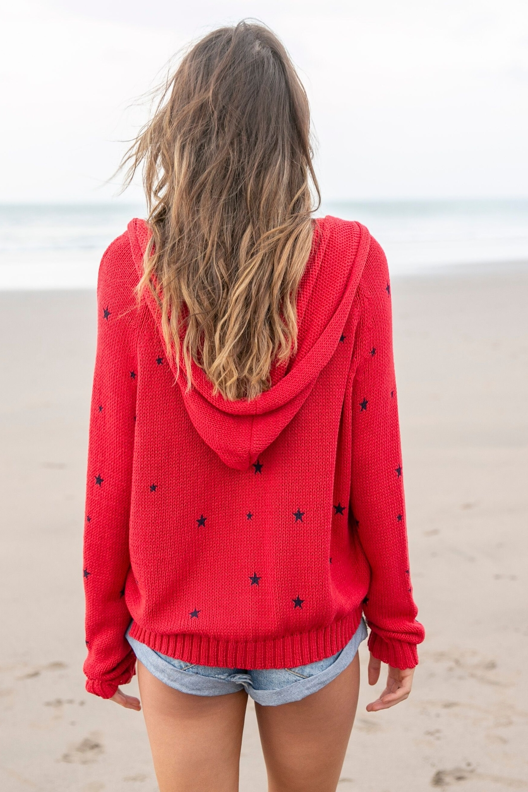 Wooden Ships Cotton Star Hoodie - Side Cropped Image