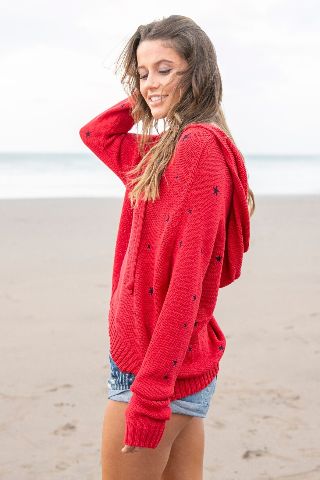 Wooden Ships Cotton Star Hoodie - Front Full Image
