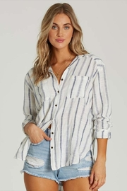 Billabong Cotton Striped Button-Down - Front cropped
