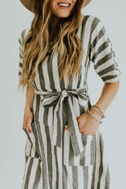 Pando Grove Cotton Striped Dress - Product Mini Image