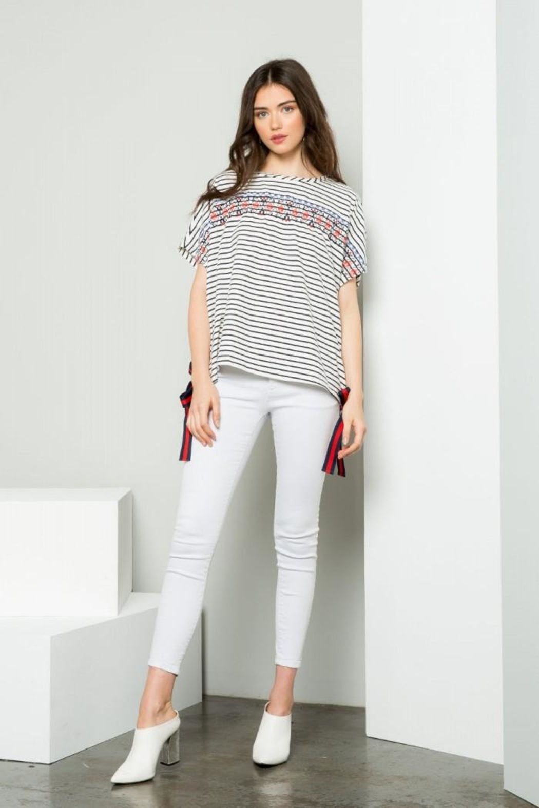 THML Clothing Cotton Striped Tee - Main Image