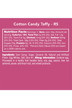 Candy Club Cotton Taffy Candy - Alternate List Image