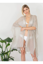 The Birds Nest COTTON TASSEL WRAP WITH BAG - Product Mini Image