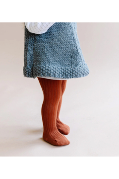 The Blueberry Hill Cotton Tights - Cinnamon - Alternate List Image