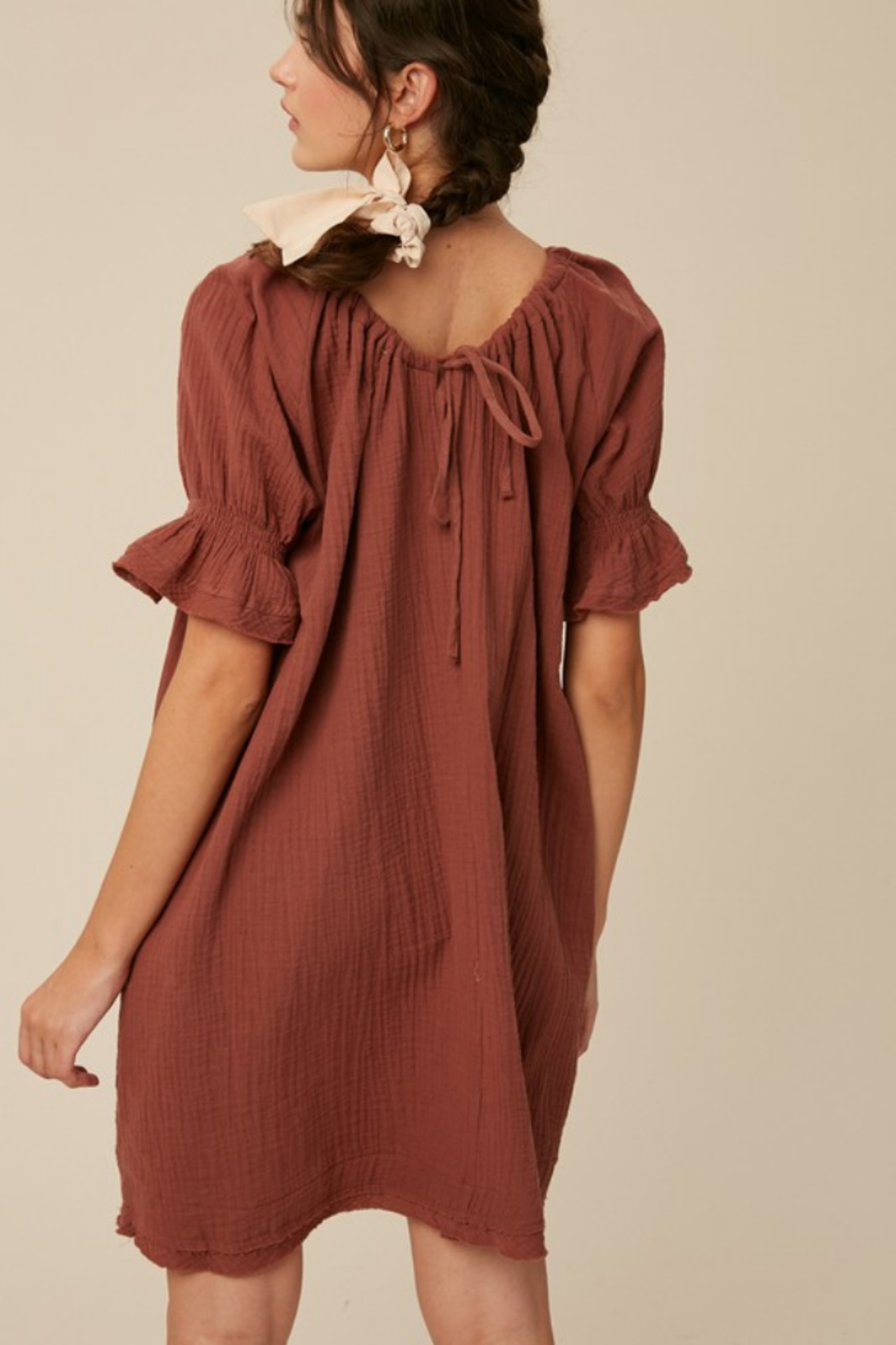 Listicle Cotton Woven Dress - Side Cropped Image