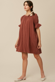 Listicle Cotton Woven Dress - Product Mini Image