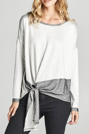 Cotton Bleu Color Block Top - Front cropped