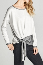 Cotton Bleu Color Block Top - Side cropped
