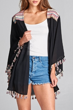 Shoptiques Product: Embroidered Tassel Cardigan