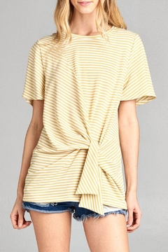 Cotton Bleu Flare Sleeve Top - Product List Image