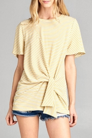 Cotton Bleu Flare Sleeve Top - Product Mini Image