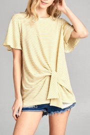 Cotton Bleu Flare Sleeve Top - Front full body