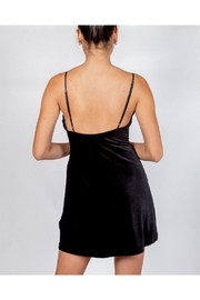 Cotton Candy Black Velvet Dress - Back cropped