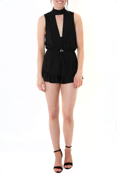 Cotton Candy Cheeky Black Romper - Product List Image