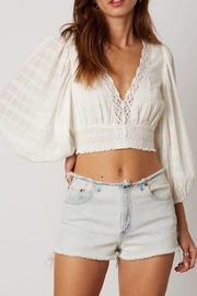 Cotton Candy Crochet Crop Top - Front cropped