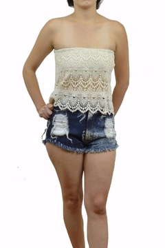 Shoptiques Product: Crochet Lace Bandeau Top
