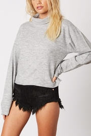 Cotton Candy Cropped Turtleneck Sweater - Front full body