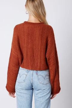 Cotton Candy Cropped Wide-Sleeve Sweater - Alternate List Image