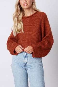 Cotton Candy Cropped Wide-Sleeve Sweater - Product List Image