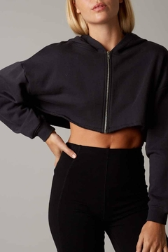 Cotton Candy Cropped Zip-Up Hoodie - Product List Image