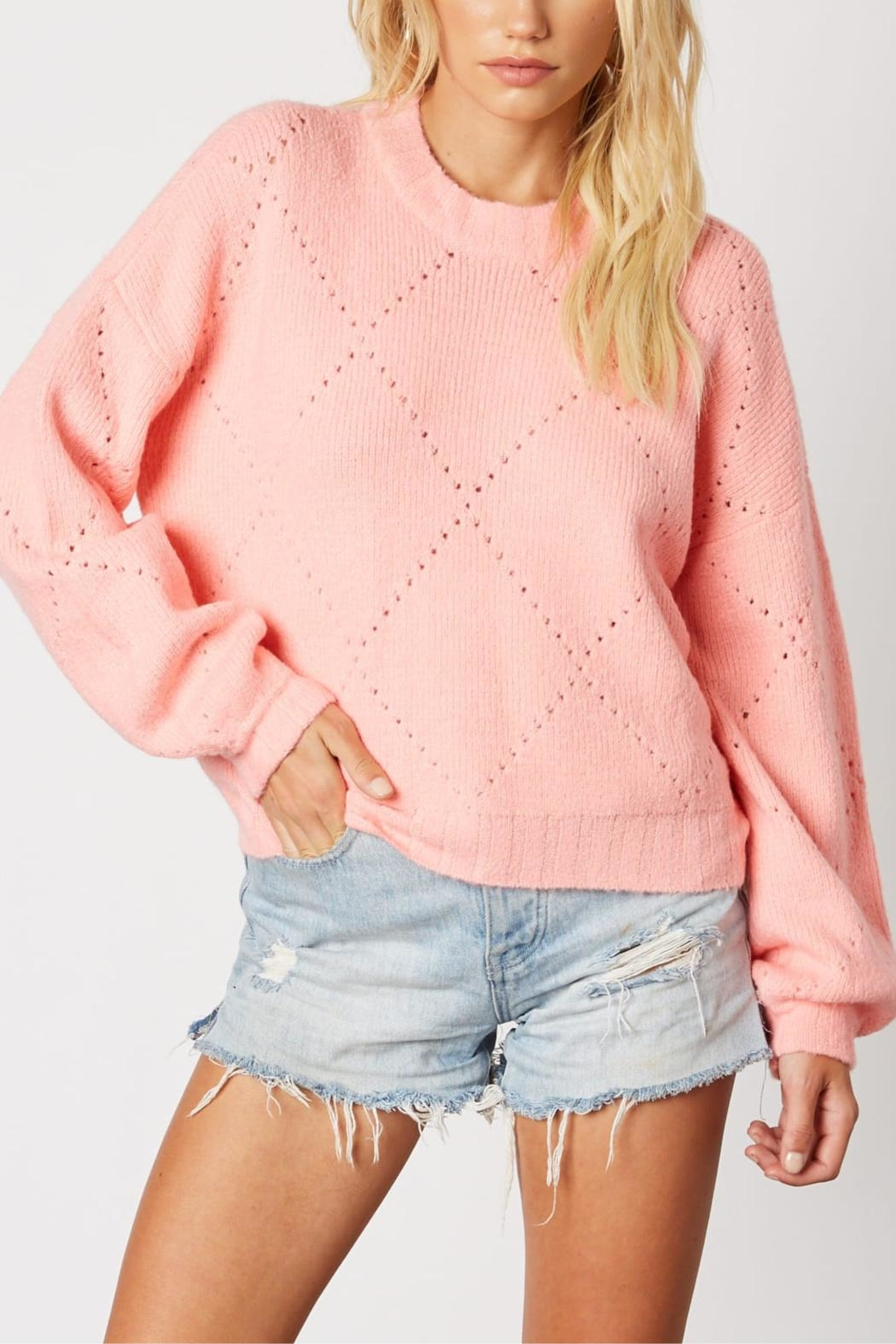 Cotton Candy Cupcake Icing Sweater - Main Image