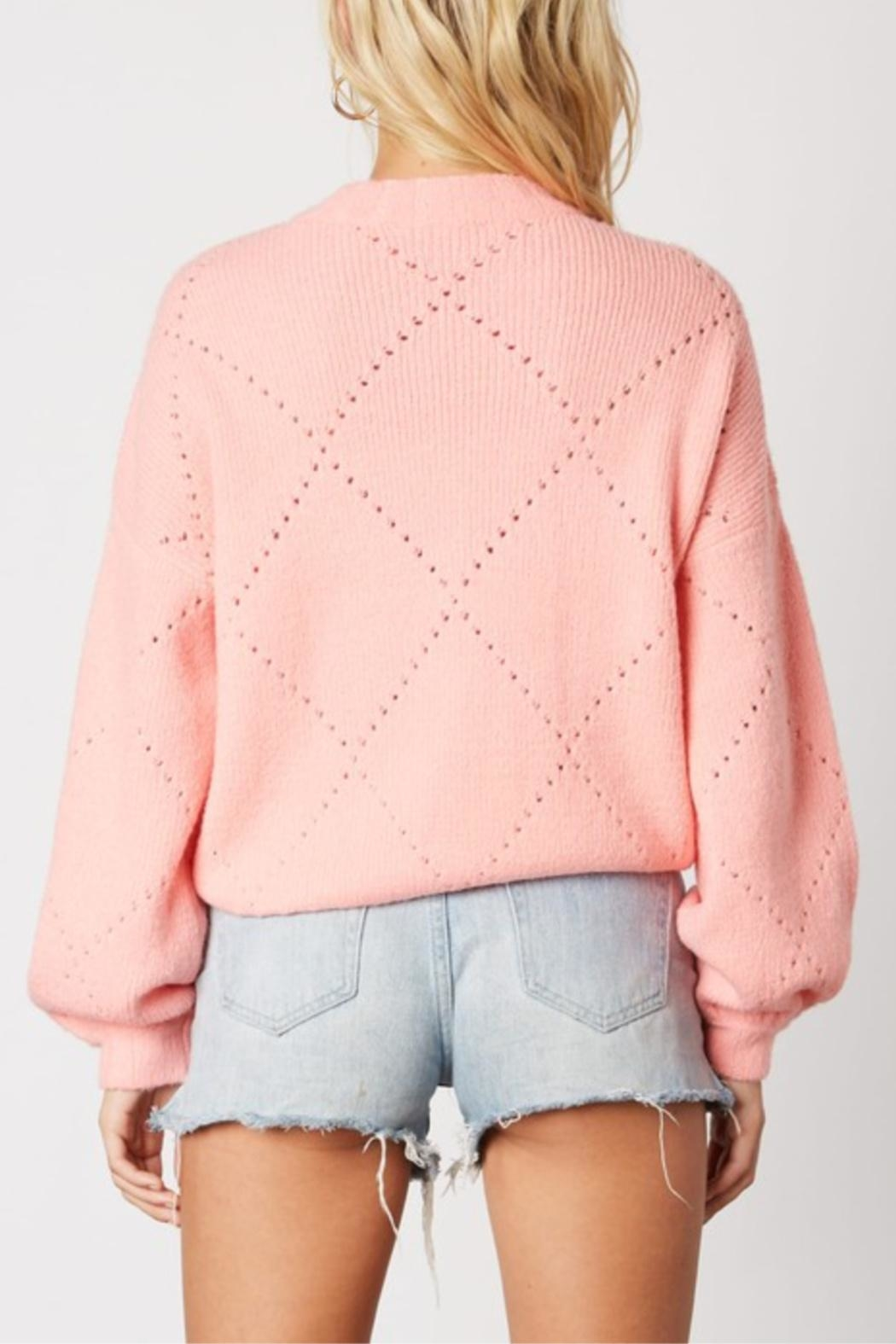 Cotton Candy Cupcake Icing Sweater - Side Cropped Image