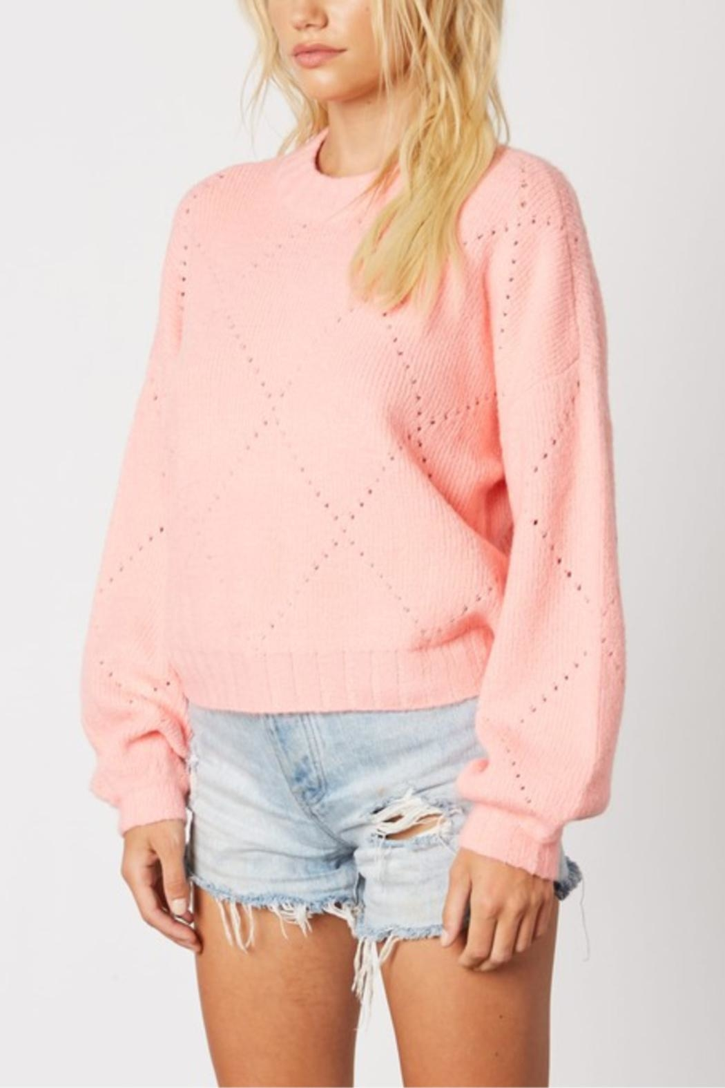 Cotton Candy Cupcake Icing Sweater - Front Full Image