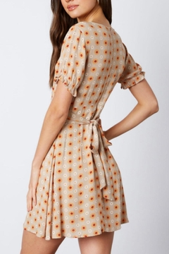 Cotton Candy Daisy Taupe Dress - Alternate List Image