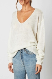 Cotton Candy Deep V-Neck Sweater - Front full body