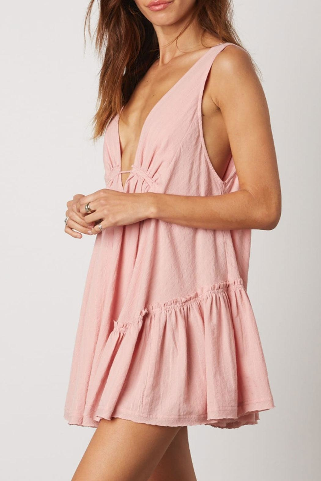 Cotton Candy Deep-V Swing Dress - Main Image